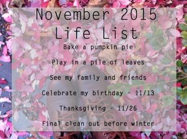 November Life List